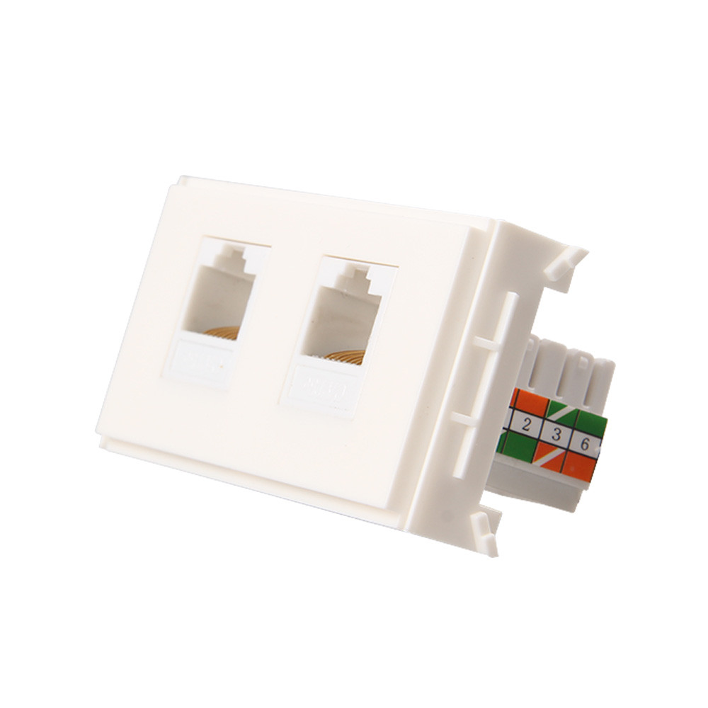 8p8c wall plate with keystones